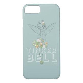 Tinker Bell Sketch With Jewel Flowers iPhone 7 Case