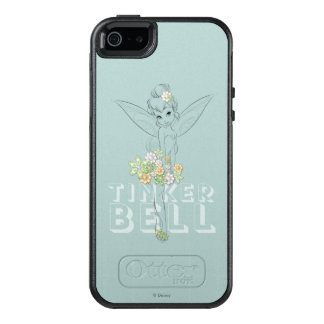 Tinker Bell Sketch With Jewel Flowers OtterBox iPhone 5/5s/SE Case