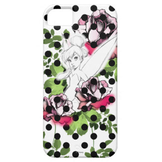 Tinker Bell Sketch With Roses and Polka Dots iPhone 5 Cover
