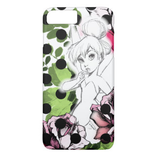 Tinker Bell Sketch With Roses and Polka Dots iPhone 7 Plus Case