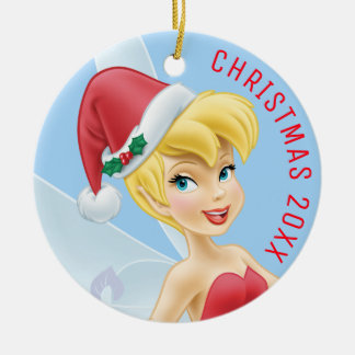 Tinker Bell | Tinker Bell Decorating The Tree Ceramic Ornament