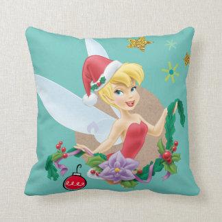Tinker Bell | Tinker Bell In Santa Hat Throw Pillow