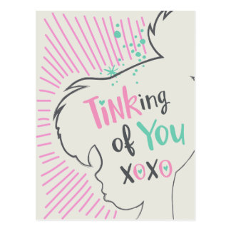 Tinker Bell | Tinking of You Valentine Postcard