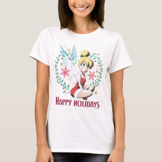 Tinker Bell | Vintage Happy Holidays T-Shirt