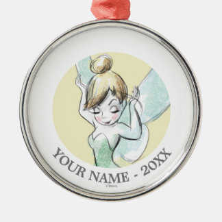 Tinkerbell | Hands Up Your Name Metal Ornament