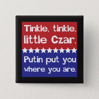 Tinkle Tinkle, Little Czar Red Blue 2 Inch Square Button