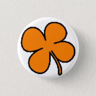 Tink's Orange Clover Collection 1 Inch Round Button