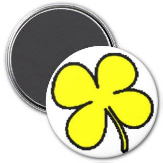 Tink's Yellow Clover Collection 3 Inch Round Magnet