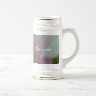 Tinted Heart Wedding Flower Beer Stein