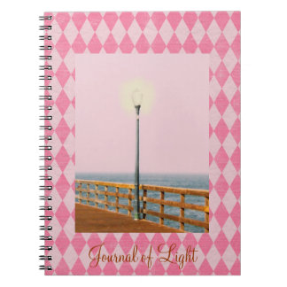 Tinted Pier Lamp Post Pink Argyle Journal Notebooks