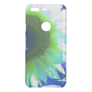 tinted pretty sunflower - blue uncommon google pixel case