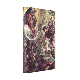 Tintoretto - Archangel Michael and Satan Gallery Wrapped Canvas