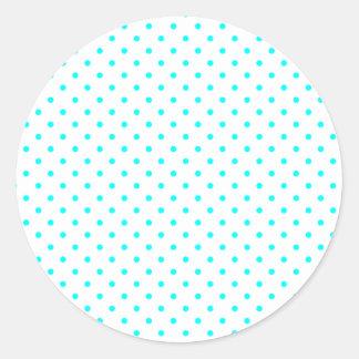 Tiny Aqua Dots Classic Round Sticker