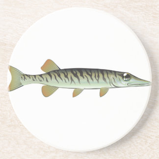 Tiny baby muskie Vector Art Fish Farm Beverage Coaster