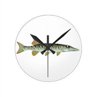 Tiny baby muskie Vector Art Fish Farm Clock