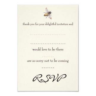 Tiny Bee Wedding Reply Card