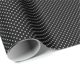 Tiny Black and White Polka Dots