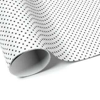 Tiny Black Polka Dots Wrapping Paper