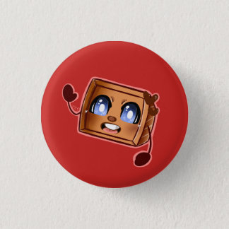 Tiny Box Tim 1 Inch Round Button