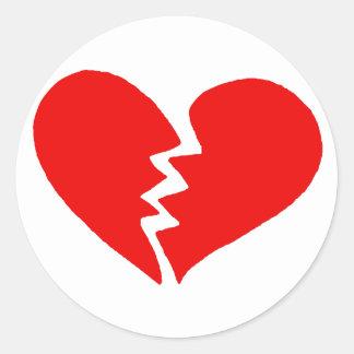 Tiny Broken Heart Classic Round Sticker