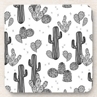 Tiny Cactus Cacti Exotic Tropical / Andrea Lauren Beverage Coasters