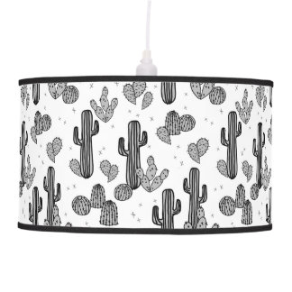 Tiny Cactus Cacti Exotic Tropical / Andrea Lauren Hanging Pendant Lamp