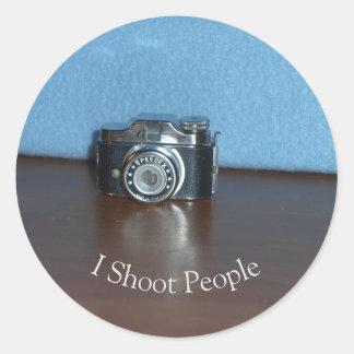 Tiny Camera Classic Round Sticker