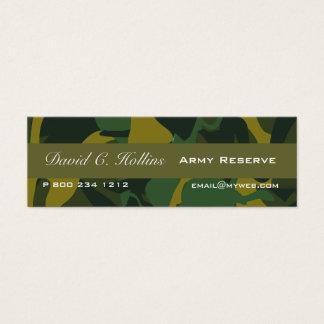 Tiny Camouflage Print - minimal Layout Mini Business Card