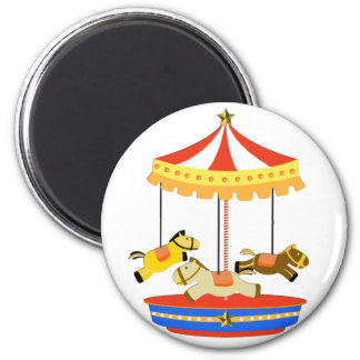 Tiny Carousel 2 Inch Round Magnet