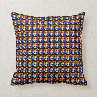 Tiny Cat Faces Print Throw Pillow