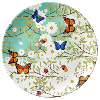 Tiny creatures porcelain plate