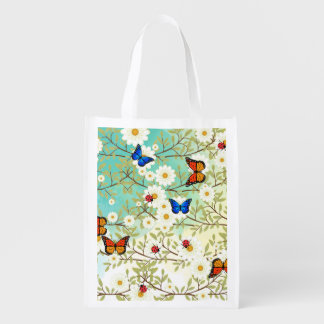 Tiny creatures reusable grocery bag