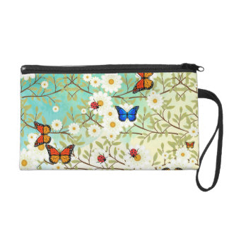 Tiny creatures wristlet purse