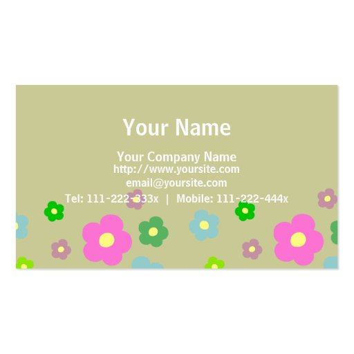 Tiny Cute Flowers B Business Card