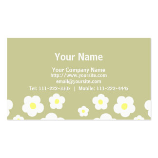 Tiny Cute Flowers C Pack Of Standard Business Cards