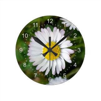 Tiny daisies wall clock