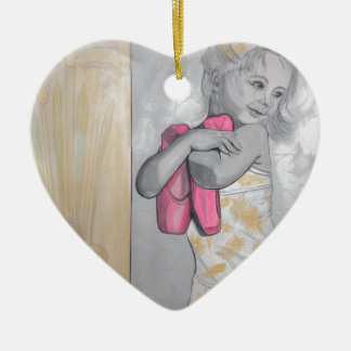 Tiny Dancer Ceramic Heart Ornament