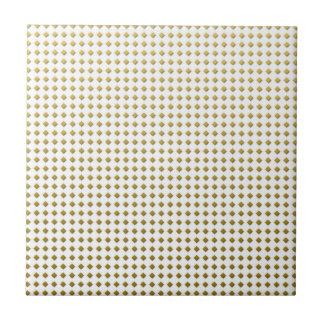 Tiny Diamonds Squares Golden Yellow Pattern Tiles