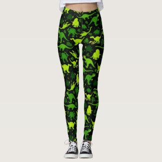 Tiny Dinosaurs Green Leggings