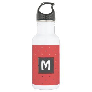 tiny faux rose gold coral polka dots pattern 532 ml water bottle