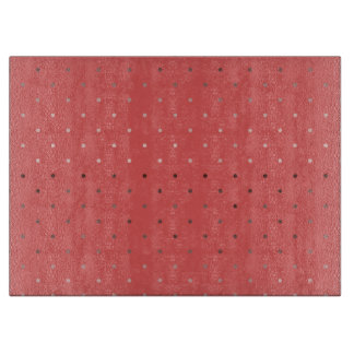 tiny faux rose gold coral polka dots pattern cutting board