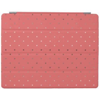 tiny faux rose gold coral polka dots pattern iPad cover