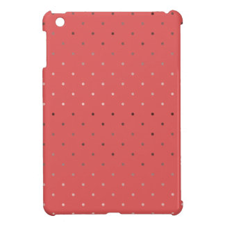 tiny faux rose gold coral polka dots pattern iPad mini case