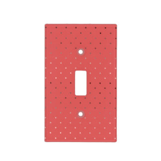 tiny faux rose gold coral polka dots pattern light switch cover