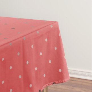 tiny faux rose gold coral polka dots pattern tablecloth