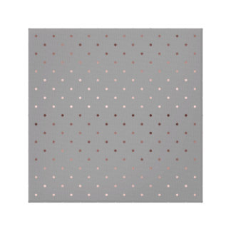 tiny faux rose gold grey polka dots pattern canvas print