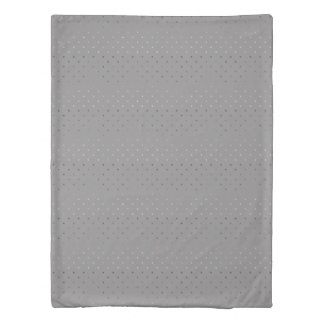 tiny faux rose gold grey polka dots pattern duvet cover