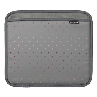 tiny faux rose gold grey polka dots pattern iPad sleeve