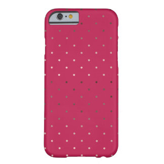 tiny faux rose gold pink polka dots pattern barely there iPhone 6 case
