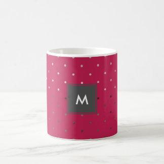tiny faux rose gold pink polka dots pattern coffee mug